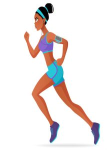 young women keeping fit by running- fibroids and exercise